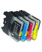 Cartucce Comp. con BROTHER LC-980 LC-1100 MULTI-PACK (4BK 2C 2M 2Y)